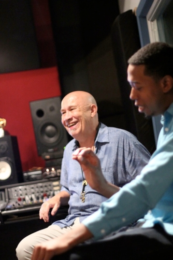 Steve Slagle + Lawrence Fields in the control room.