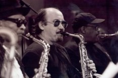 Steve with fellow Saxes � Bobby Watson, John Stubblefield Mingus Big Band, mid 90s