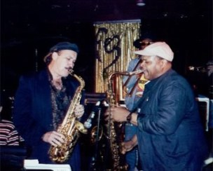 Steve in duo with John Stubblefield, Mingus Big Band at Fez in NYC '95