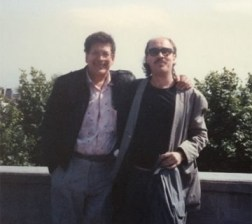 Steve with Ray Barretto on the road in Europe, late 80s