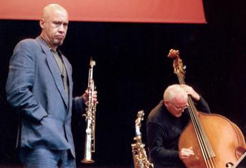 With Dennis Irwin, Joe Lovano Quartet, Stokholm, late 90s