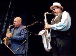With Joe Lovano, Joe Lovano Quartet, Stokholm, late 90s