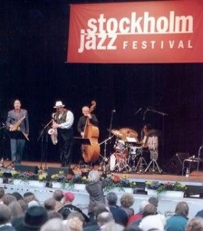 With Joe Lovano Quartet, Stokholm Jazz Festival, late 90s
